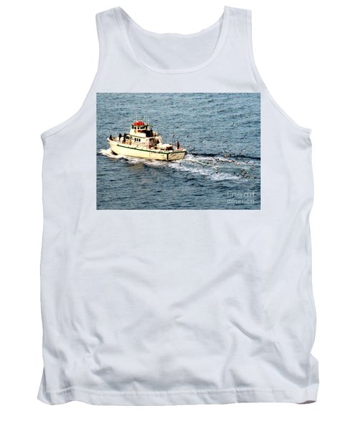 Tank Top featuring the photograph Fishing And Seagulls by Randall Weidner