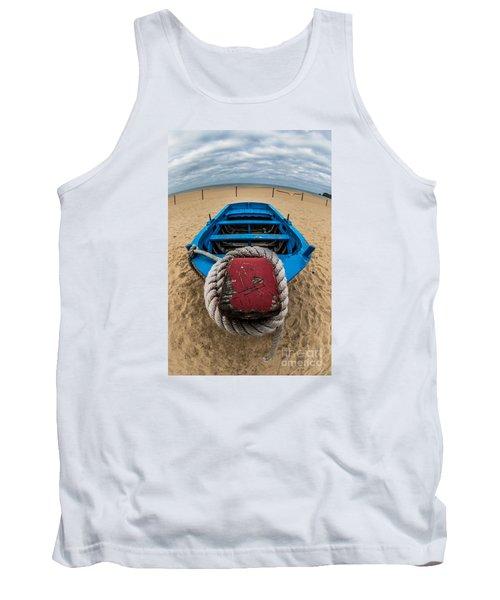 Little Blue Fishing Boat Tank Top