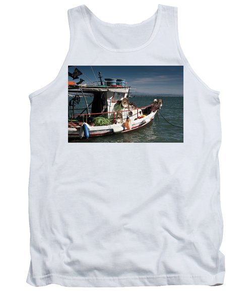 Tank Top featuring the photograph Fishing by Bruno Spagnolo