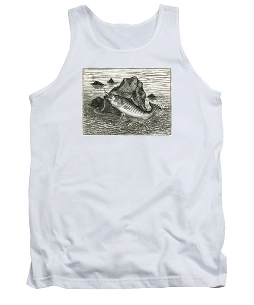 Tank Top featuring the photograph Fishing The Rocks by Charles Harden