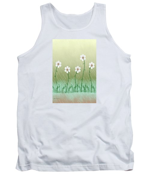 Five Days Of Daisies Tank Top by Rosalie Scanlon