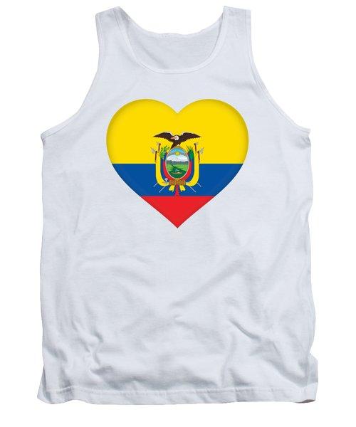 Flag Of Ecuador Heart Tank Top