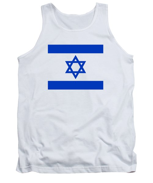 Flag Of Israel Authentic Version Tank Top by Bruce Stanfield