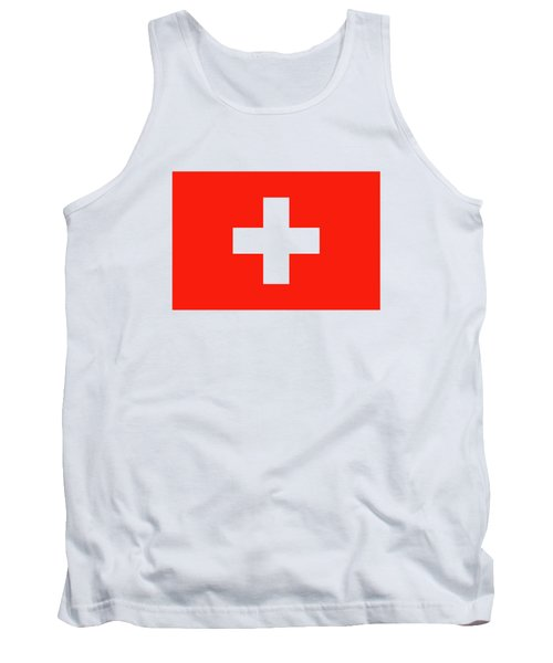 Flag Of Switzerland Tank Top by Bruce Stanfield