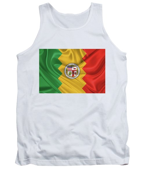 Flag Of The City Of Los Angeles Tank Top by Serge Averbukh