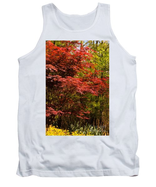 Flame In The Backyard Tank Top by Marilyn Carlyle Greiner