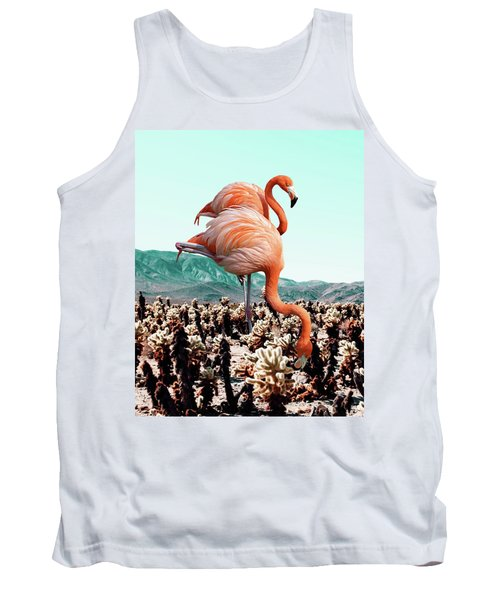 Flamingos In The Desert Tank Top