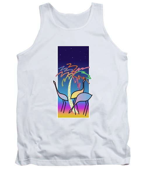 Flamingos Tank Top by Steve Ellis