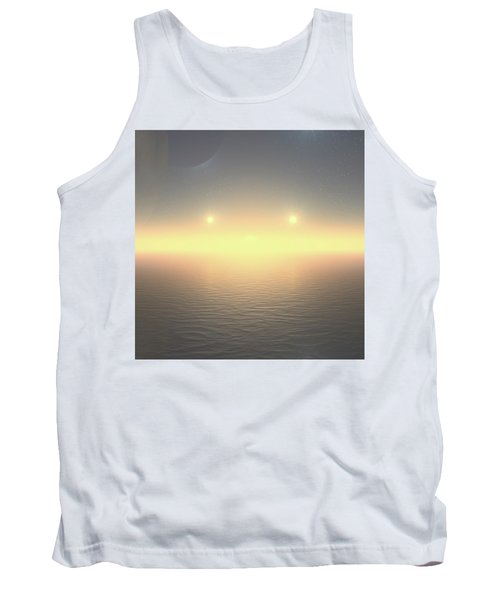 Tank Top featuring the digital art Flat Lights by Robert Thalmeier
