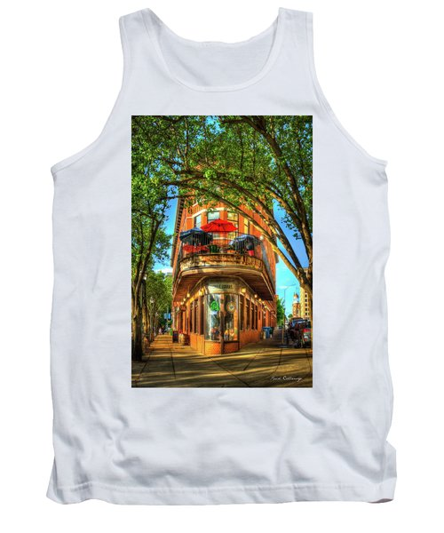 Flatiron Style Pickle Barrel Building Chattanooga Tennessee Tank Top by Reid Callaway
