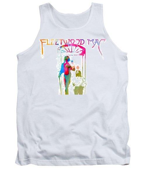 Tank Top featuring the digital art Fleetwood Mac Album Cover Watercolor by Dan Sproul