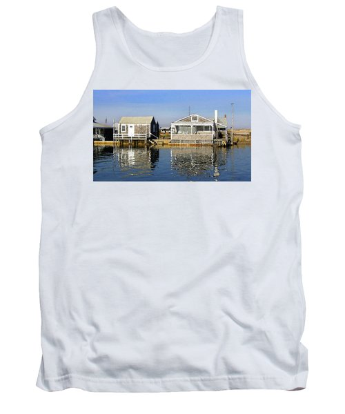Fletchers Camp And The Little House Sandy Neck Tank Top