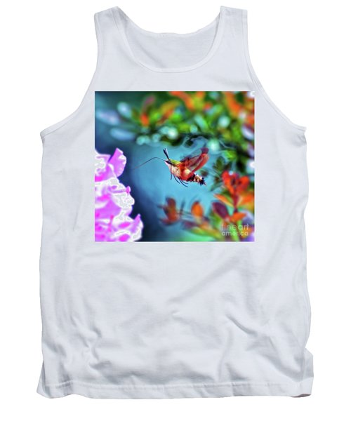 Tank Top featuring the photograph Flight Of Mystery - Hummingbird Moth by Kerri Farley