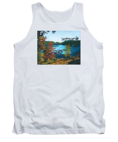 Tank Top featuring the painting Floodwood by Lynne Reichhart