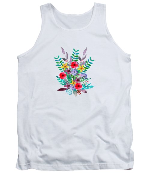 Floral Bouquet Tank Top by Amanda Lakey