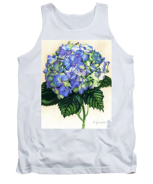 Tank Top featuring the painting Floral Favorite by Barbara Jewell