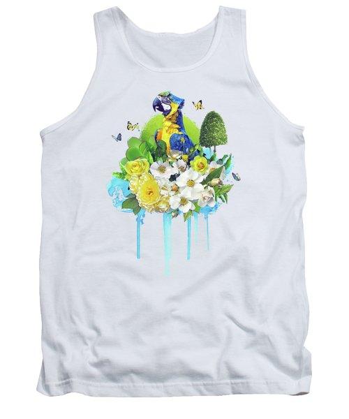 Floral Parrot Tank Top