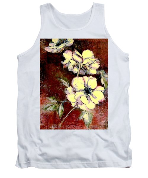 Floral Watercolor Painting Tank Top