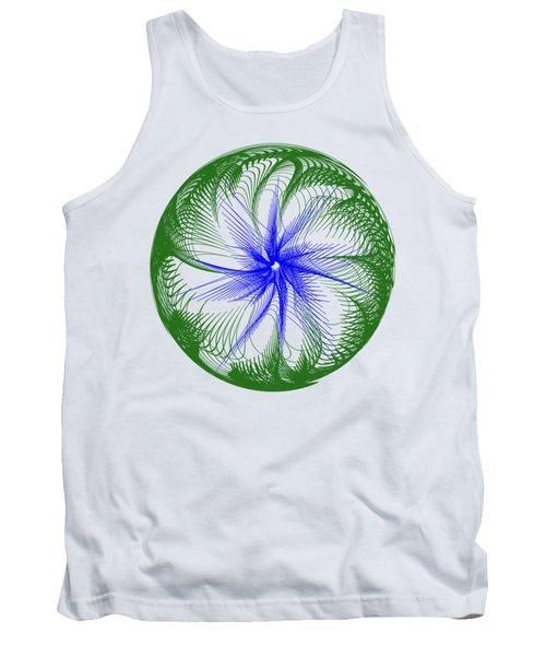 Floral Web - Green Blue By Kaye Menner Tank Top