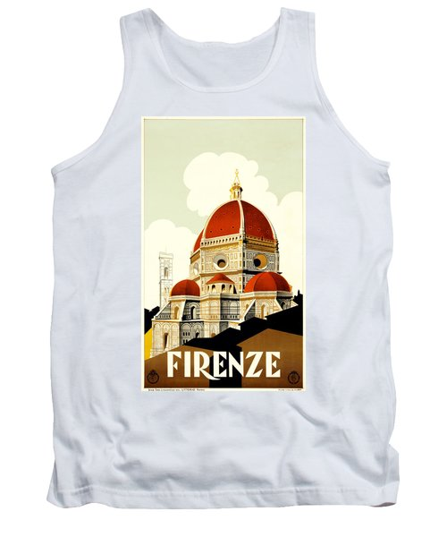 Florence Travel Poster Tank Top