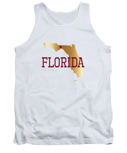 Florida Gold And Garnet With State Capital Typography Tank Top