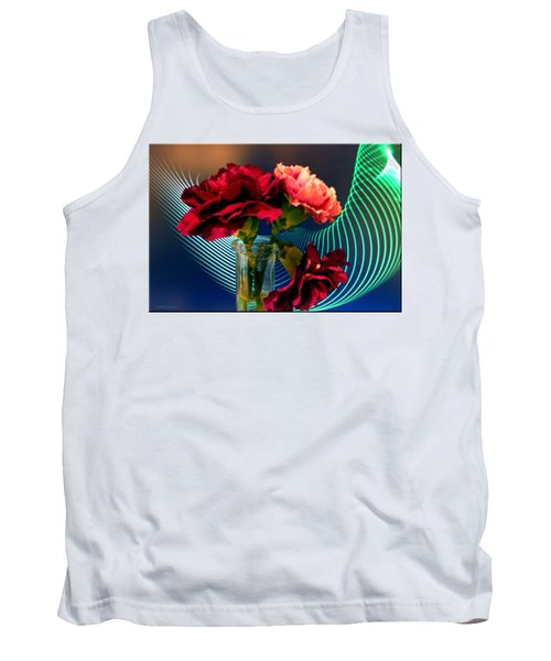 Flower Decor Tank Top