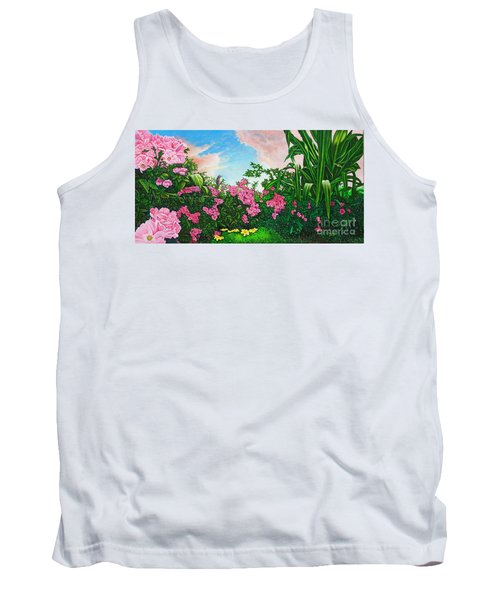 Tank Top featuring the painting Flower Garden Xi by Michael Frank