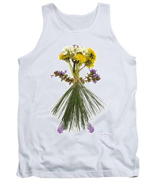 Flower Head Tank Top by Lise Winne