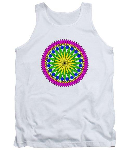 Flower Mandala By Kaye Menner Tank Top