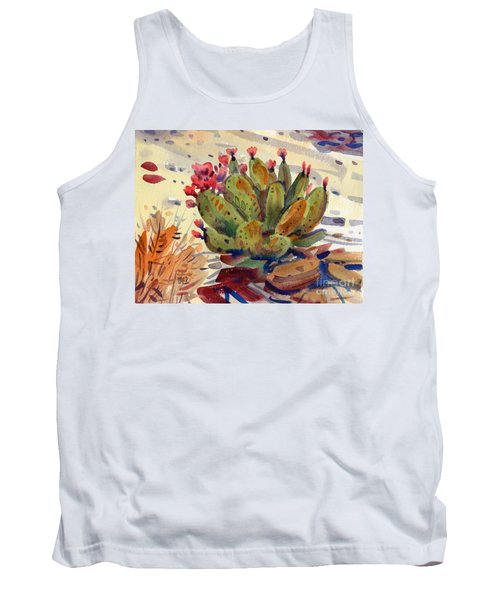 Flowering Opuntia Tank Top