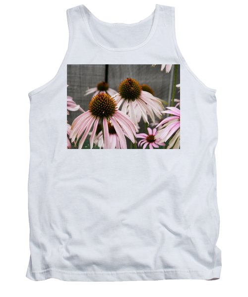 Flowers Along The Fence Tank Top