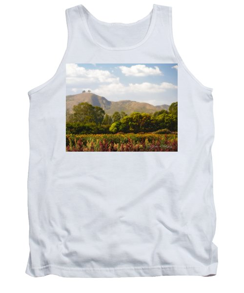 Tank Top featuring the photograph Flowers And Two Trees by John A Rodriguez