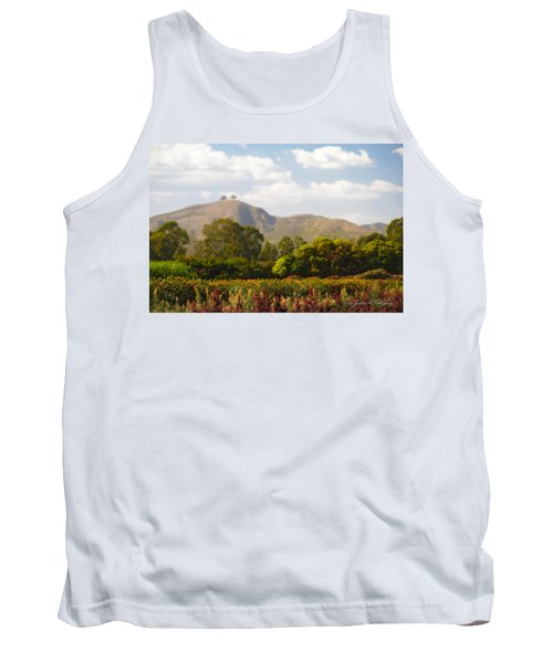 Flowers And Two Trees Tank Top