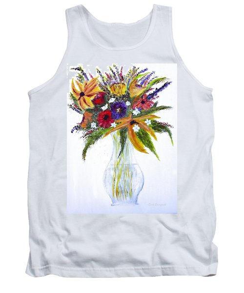 Flowers For An Occasion Tank Top by Dick Bourgault