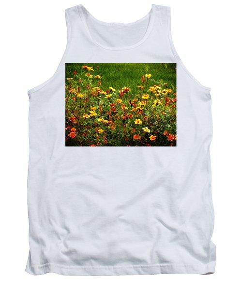 Flowers In The Fields Tank Top by Joseph Frank Baraba