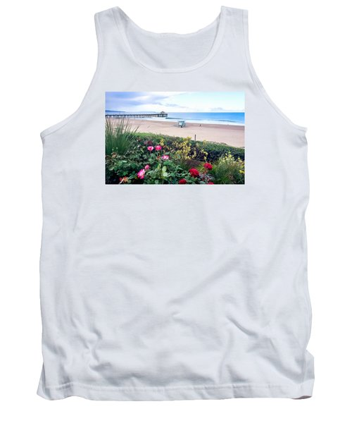 Flowers Of Manhattan Beach Tank Top by Art Block Collections