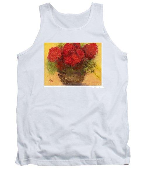 Flowers Red Tank Top by Marlene Book