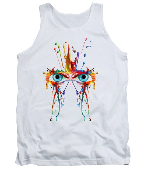 Fluid Abstract Eyes Tank Top