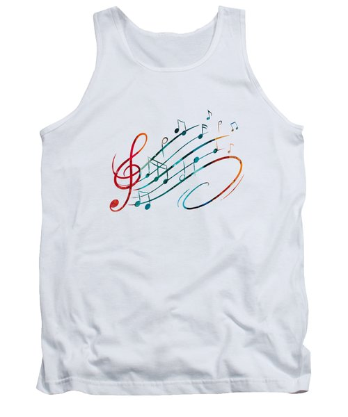Fluid Depths Alcohol Ink Abstract Tank Top