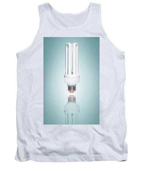 Fluorescent Light Bulb Tank Top