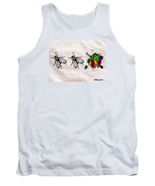 Fly On The Wall Abstract Watercolor Tank Top