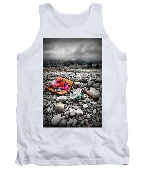 Fly Rod And Streamers Portrait Tank Top