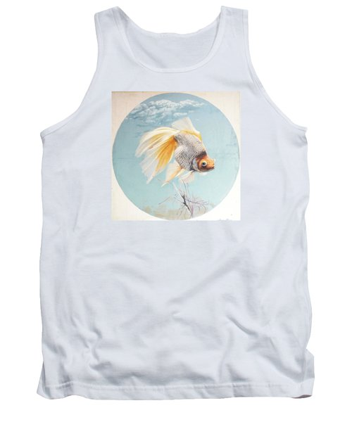 Flying In The Clouds Of Goldfish Tank Top by Chen Baoyi