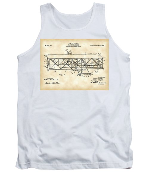 Flying Machine Patent 1903 - Vintage Tank Top