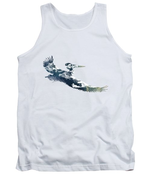 Flying Pelican Tank Top by Diana Van