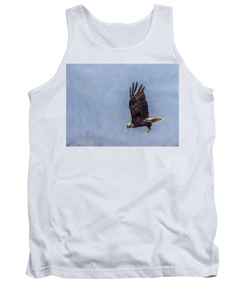 Tank Top featuring the photograph Flying With His Mouth Full.  by Timothy Latta