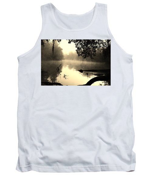 Fog And Light In Sepia Tank Top