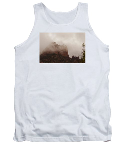 Tank Top featuring the photograph Fog Over Snoopy Rock by Tom Kelly