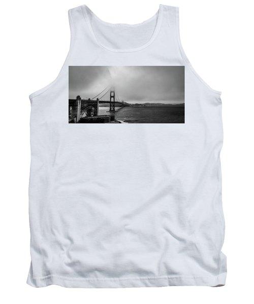 Fog Over The Golden Gate Bridge Tank Top