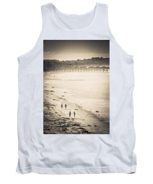 Foggy Beach Walk Tank Top